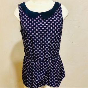 Tommy Hilfiger Collared Sleeveless Blouse Small